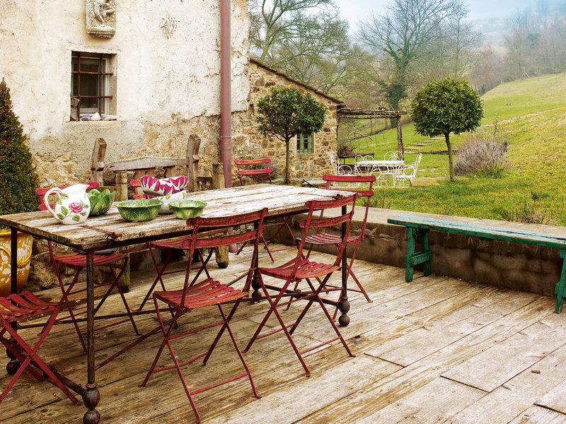 Uma casa na toscana nuno almeida - Comedor de exterior ...