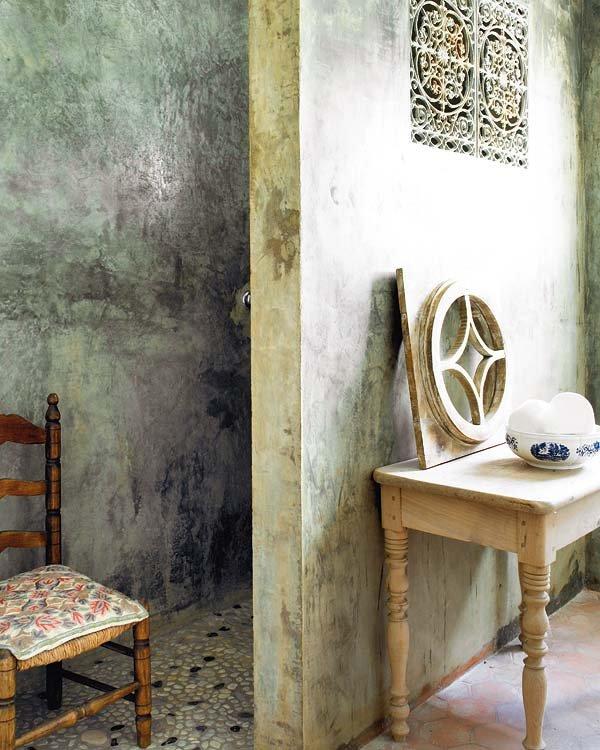 Casa charmosa nuno almeida for Pared de bano de concreto encerado