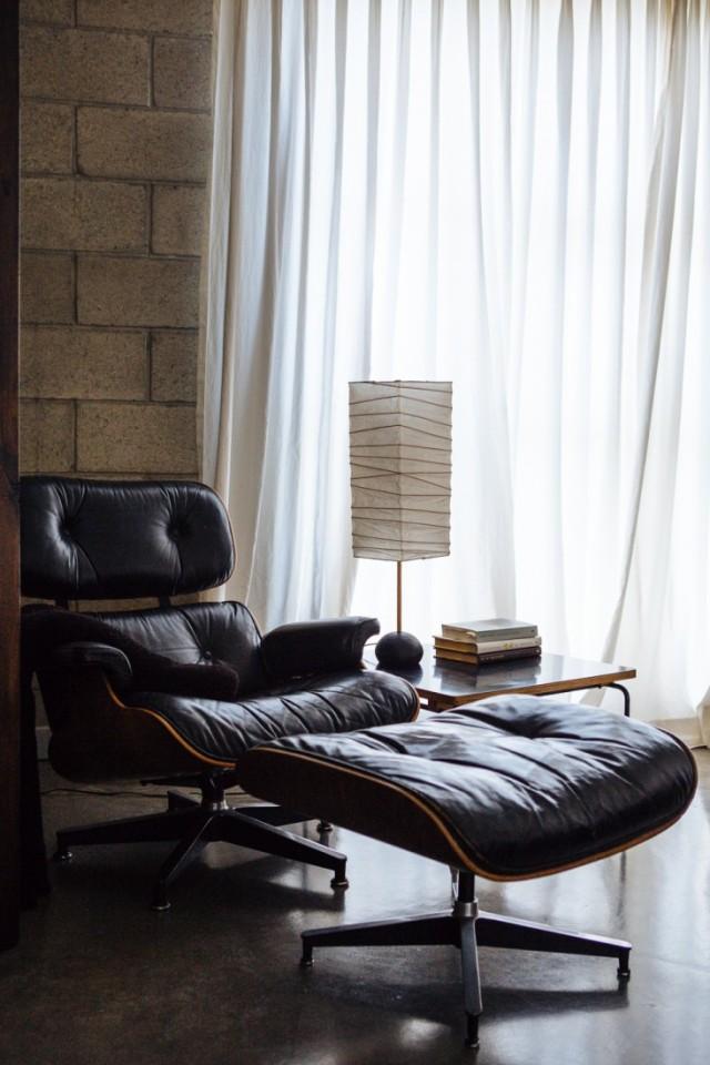 Joan-McNamara-LA-loft-Eames-lounge-chair-ljoliet-Remodelista